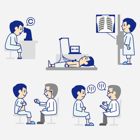 健康診断、予防接種について